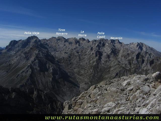 Ruta Jito Escarandi Cueto Tejao: Vista de Peña Vieja y Castil desde Cueto Tejao