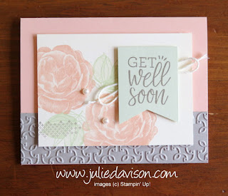 Stampin' Up! Healing Hugs Get Well Soon Card ~ www.juliedavison.com