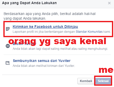 gambar cara melpaorkan facebook palsu 2016