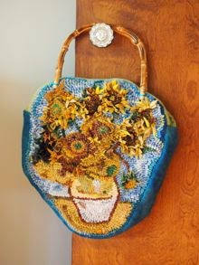 Vincent van Gogh: Vase with twelve Sunflowers Hooked Purse