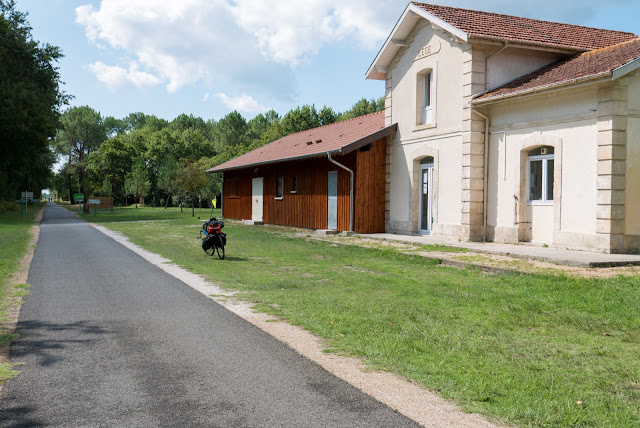 Vélodyssée, l'ancienne gare de Lège Cap Ferret