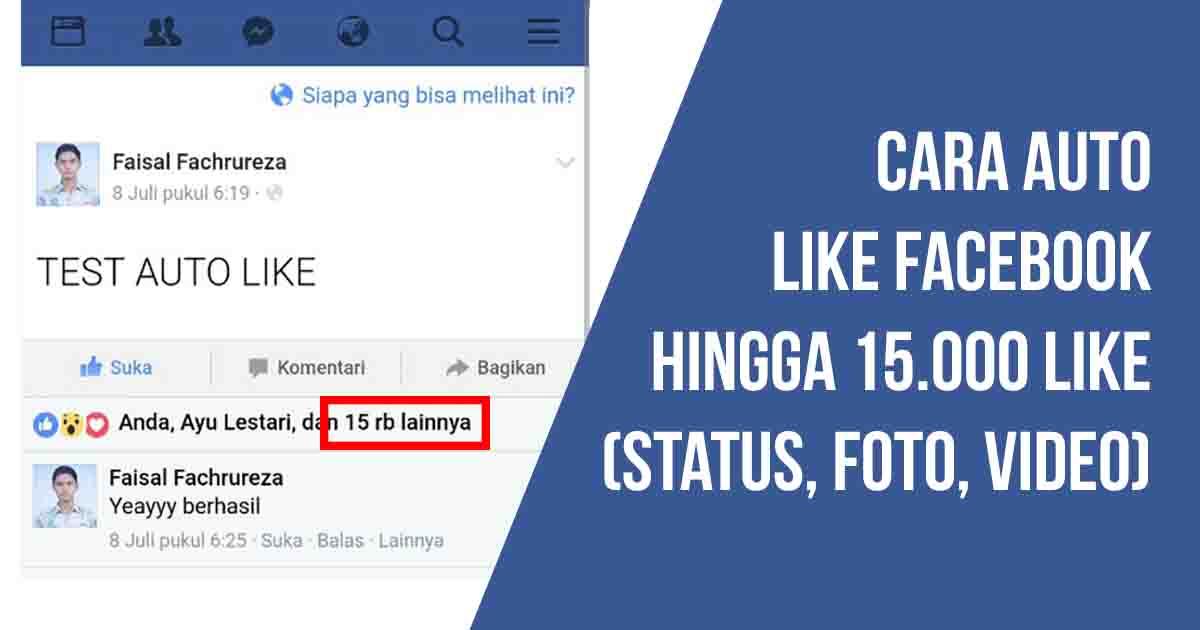 cara auto like facebook