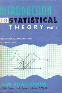 Introduction To Statistical Theory Part 1 Pdf