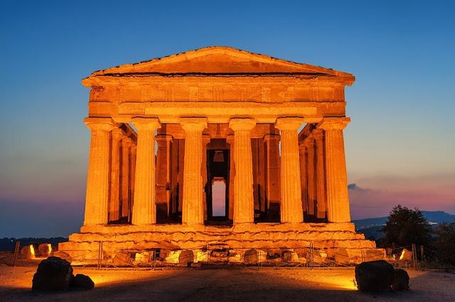 Vale dos Templos em Sicília