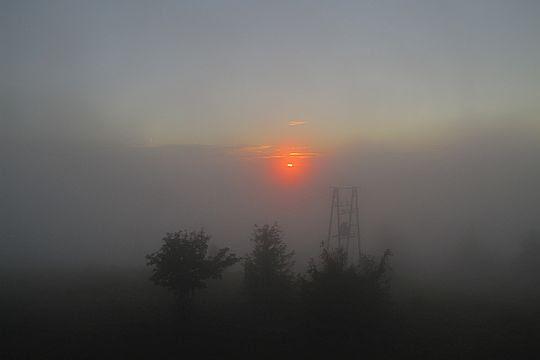 Znów napływa fal mgieł.