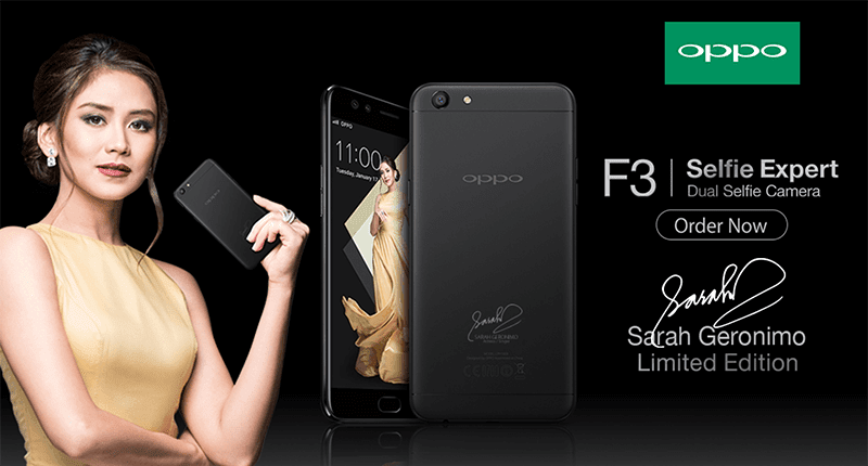 OPPO Announces Sarah Geronimo Limited Edition F3 Smartphone