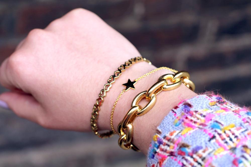 Newbridge Silverware gold jewellery by Amy Huberman - UK style blog
