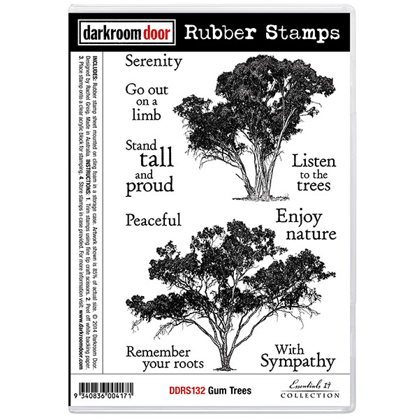 Gum Trees Stamp Set by Darkroom Door for sale at Art by Jenny art and craft online shop