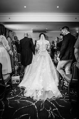 black and white back of wedding dress