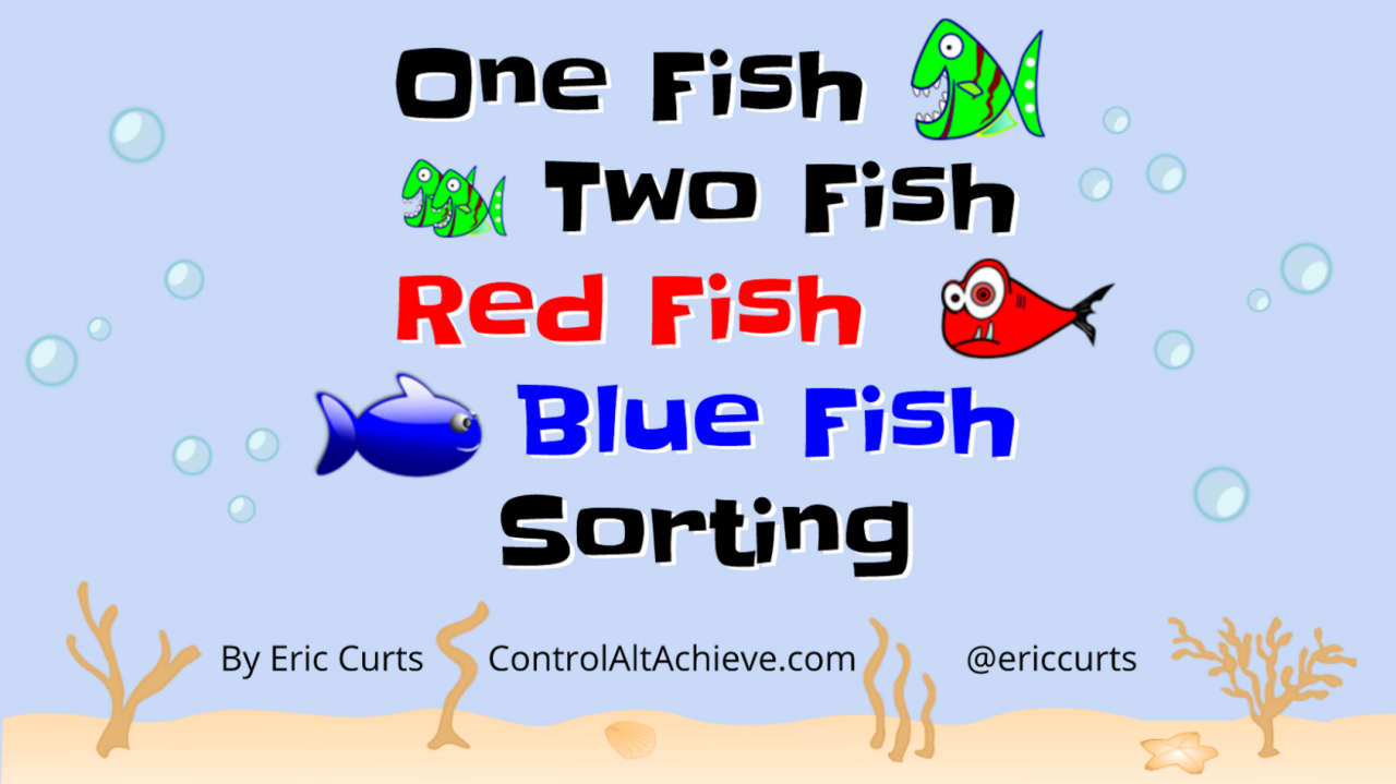 red fish blue fish text