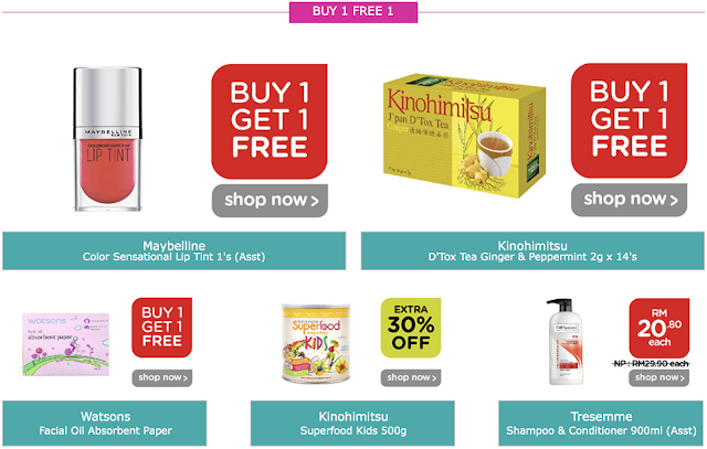Watsons 4 Day Members Sale Buy 1 Free 1 Promo