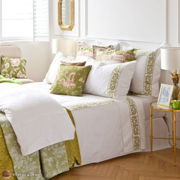 Modern Bed Embroidered Linens 7