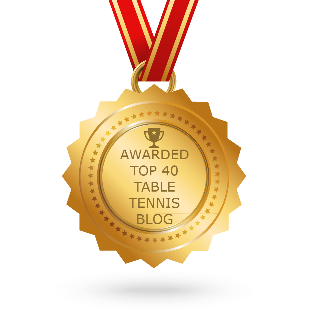 Feedspot Badge Top 40 table tennis blog