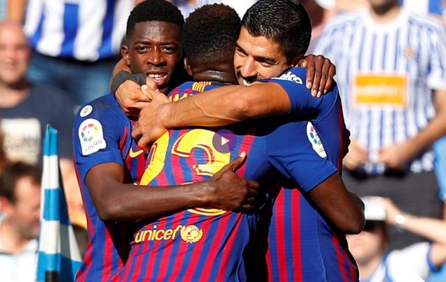 بالفيديو : برشلونة يقلب الطاولة على ريال سوسييداد ويحول الهزيمة الى فوز اليوم فى الدورى الاسبانى السبت 15-9-2018