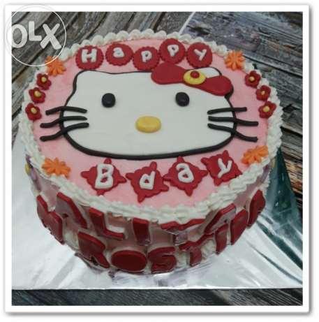 jual cake hello kitty enak, murah, di jogja. Tart ulang tahun hello kitty di jogja