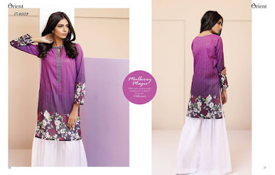 Orient new summer lawn kurti dresses designs collection 2017 in pakistan