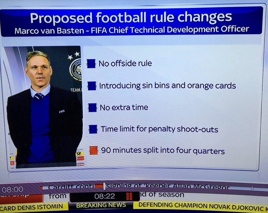 Check out the new football rules proposed by FIFA executive