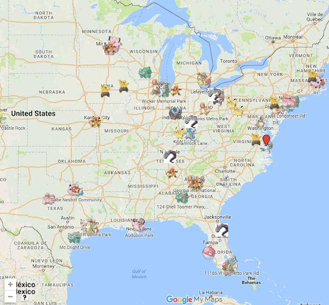 Pokemon Go Top Locations