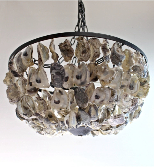 Oyster Shell Ceiling Lamp