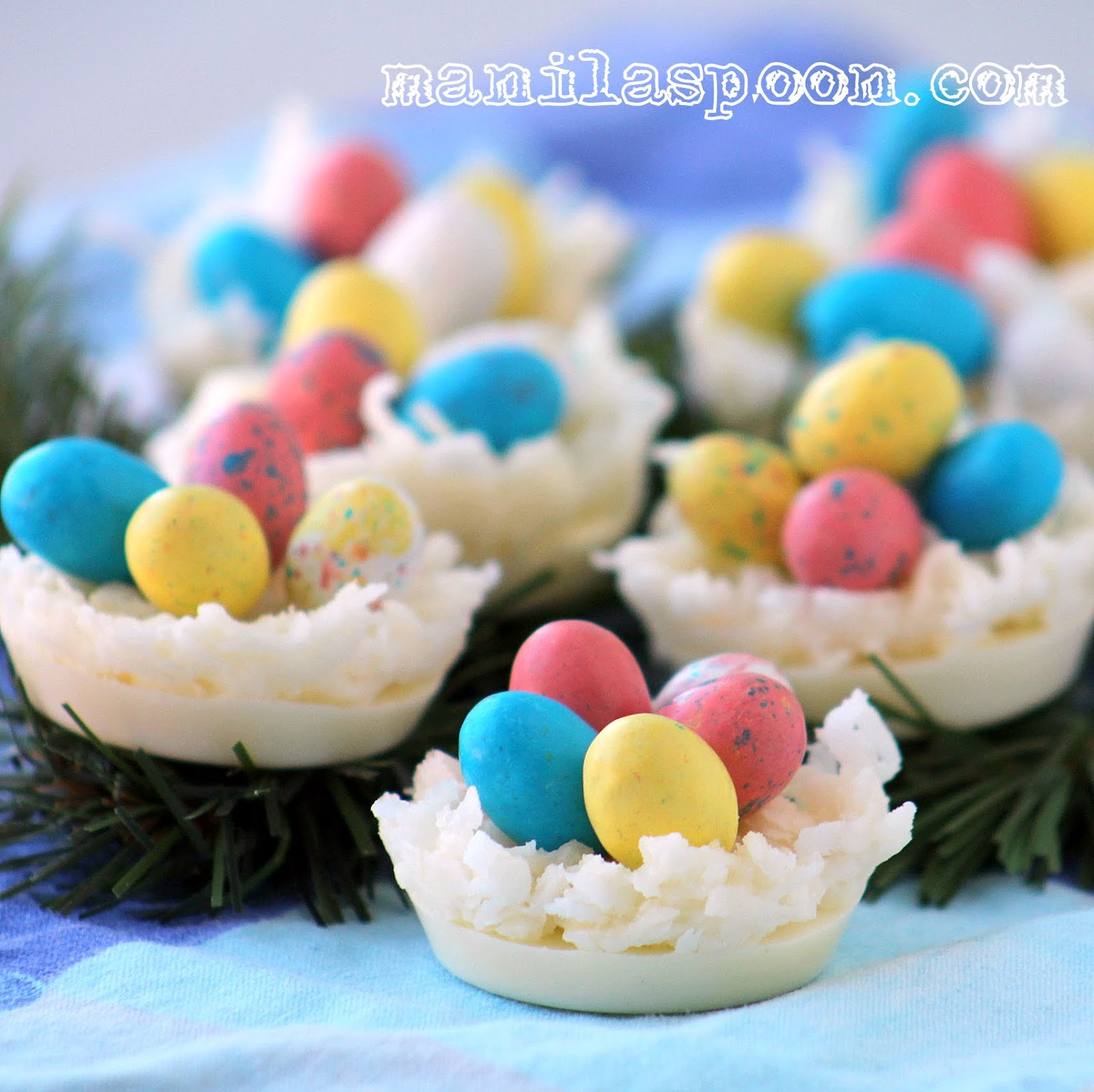 White Chocolate and Coconut Egg Nests