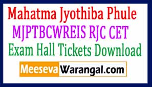 MJPTBCWREIS RJC CET Exam  Hall Tickets Download 2017