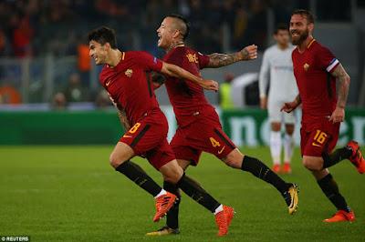 Highlight AS Roma 3-0 Chelsea, 31 Oktober 2017