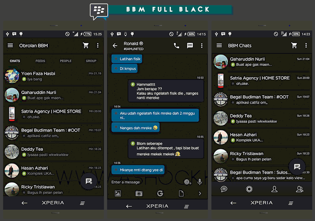 BBM Mod Black Edition Apk Terbaru
