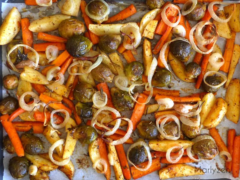 Légumes rôtis au four.
