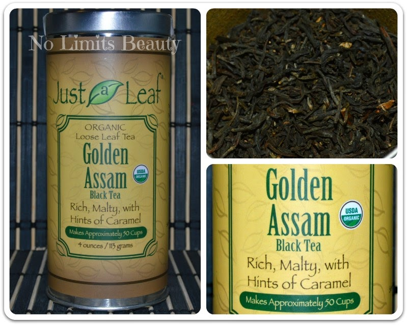 iHerb - Just a Leaf Organic Tea, Golden Assam Black Tea, 4 oz (113 g)