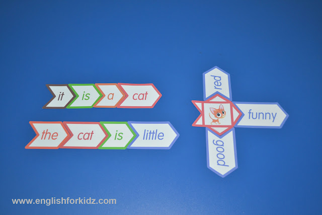 sight words flashcards assignment to find related words