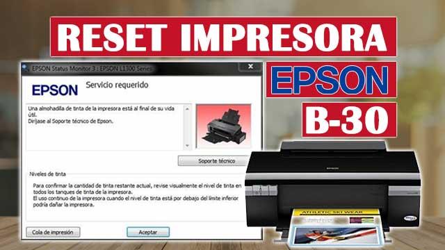 Reset almohadillas de la impresora EPSON B-30