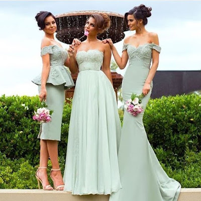 Mermaid Gorgeous Lace Off-the-Shoulder Bridesmaid Dress