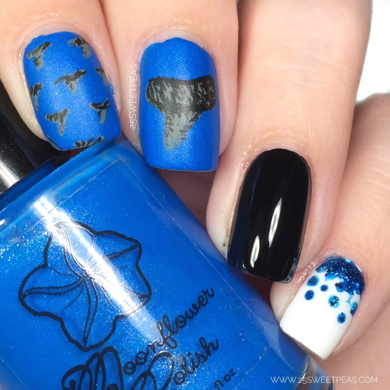 Shark Week Nail Art - 25 Sweetpeas