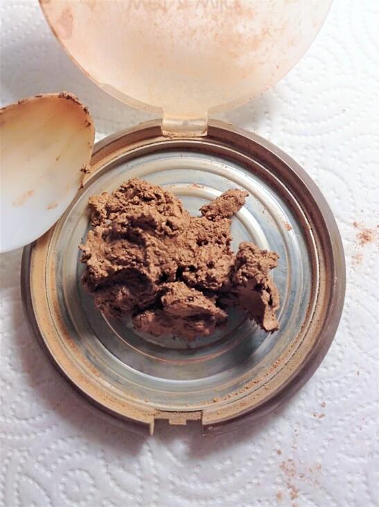 putting alcohol saturated makeup back into the pan