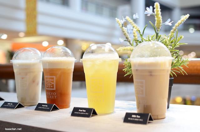 Milk Tea, the Black Milk Tea and Oolong Milk Tea among other selections