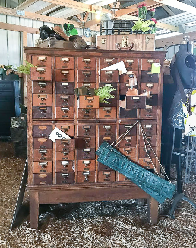 60 drawer vintage card catalog