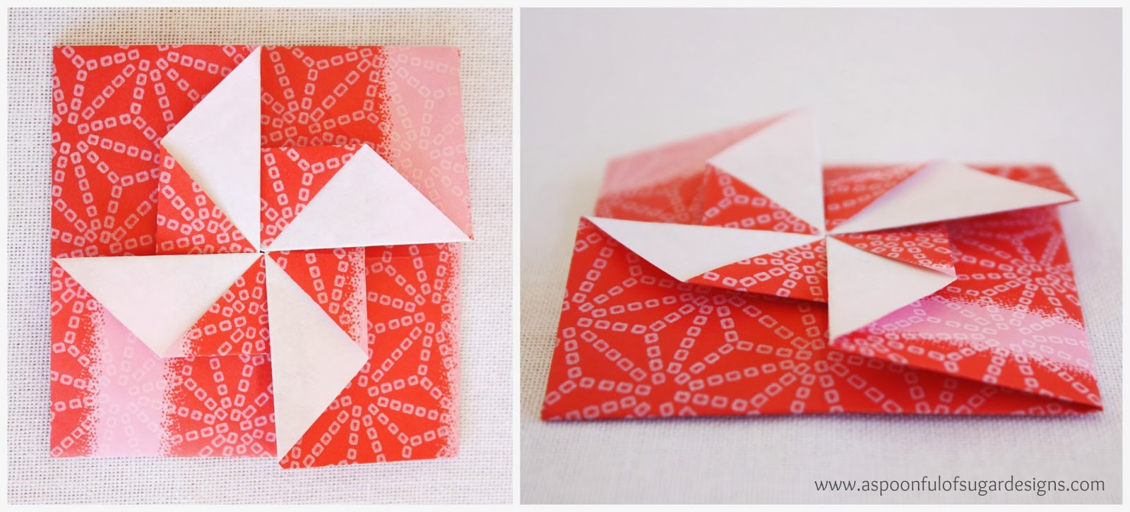 Origami pinwheel envelopes a spoonful of sugar origami pinwheel envelopes jeuxipadfo Images