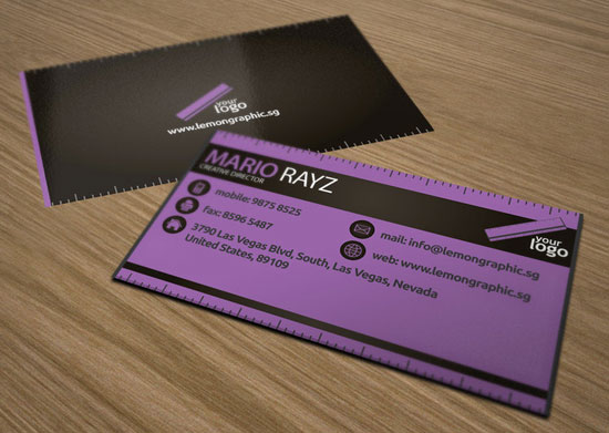 tarjetas de presentacion morado