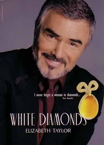 BURT REYNOLDS NA PROPAGANDA DE WHITE DIAMONDS