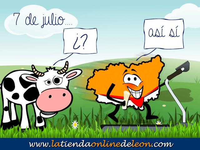 sancho y una vaca en el campo