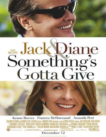 Poster Of Something's Gotta Give 2003 English 350MB HDTV 480p Watch Online Free Download Worldfree4u