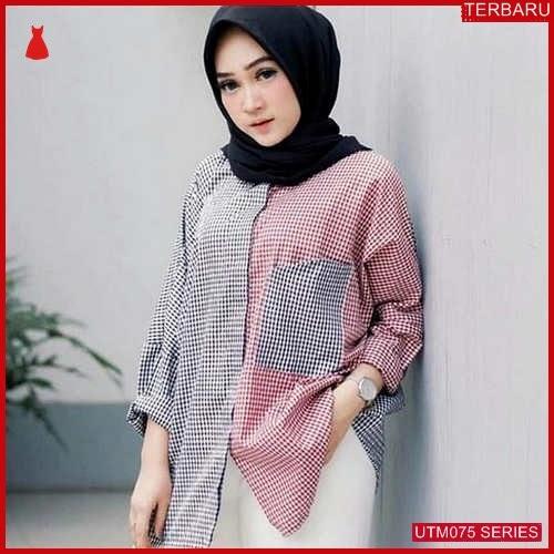 UTM075A77 Baju Ambar Muslim Blouse UTM075A77 04B | Terbaru BMGShop