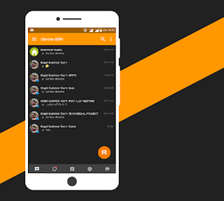BBM Mod NAF Chat Series v1.0.0 Dark Yellow Theme Base BBM 3.2.5.12 Apk