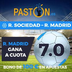 Paston Megacuota 7 Liga Real Madrid gana Real Sociedad + 100 euros 17 septiembre