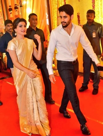 chaitanya, samantha at nimmagadda swathi wedding