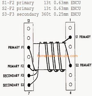 ferrite inverter coil details