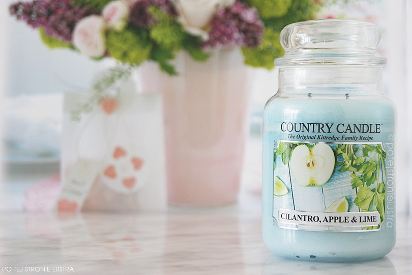 świeca zapachowa country candle cilantro, apple & lime