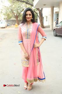 Actress Vimala Raman Stills in Beautiful Pink Salwar Kameez at (ONV) Om Namo Venkatesaya Press Meet  0250.JPG