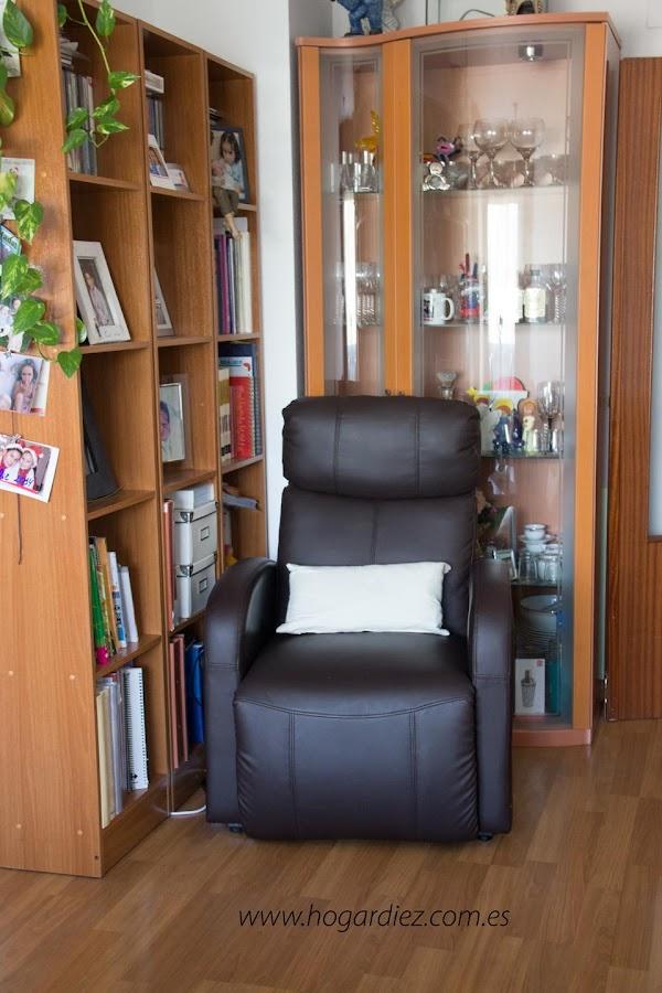 Rincón de mi salón con sillón relax