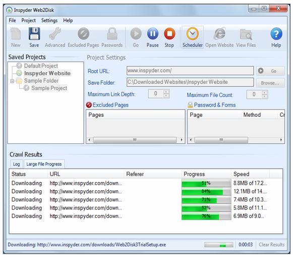 أفضل البرامج لتحميل محتوى أي موقع وتصفحه دون أنترنت Web2disk